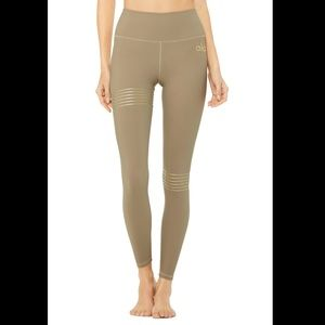 Alo nude leggings with gold strips